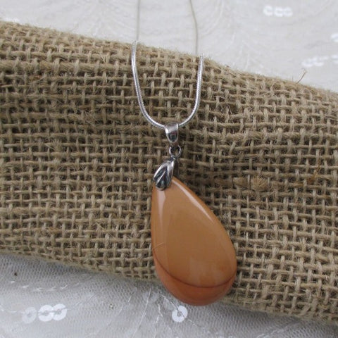 Mustard Gemstone Pendant Necklace
