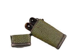 Load image into Gallery viewer, Shagreen Lancet Case with Two Thumb Lancets