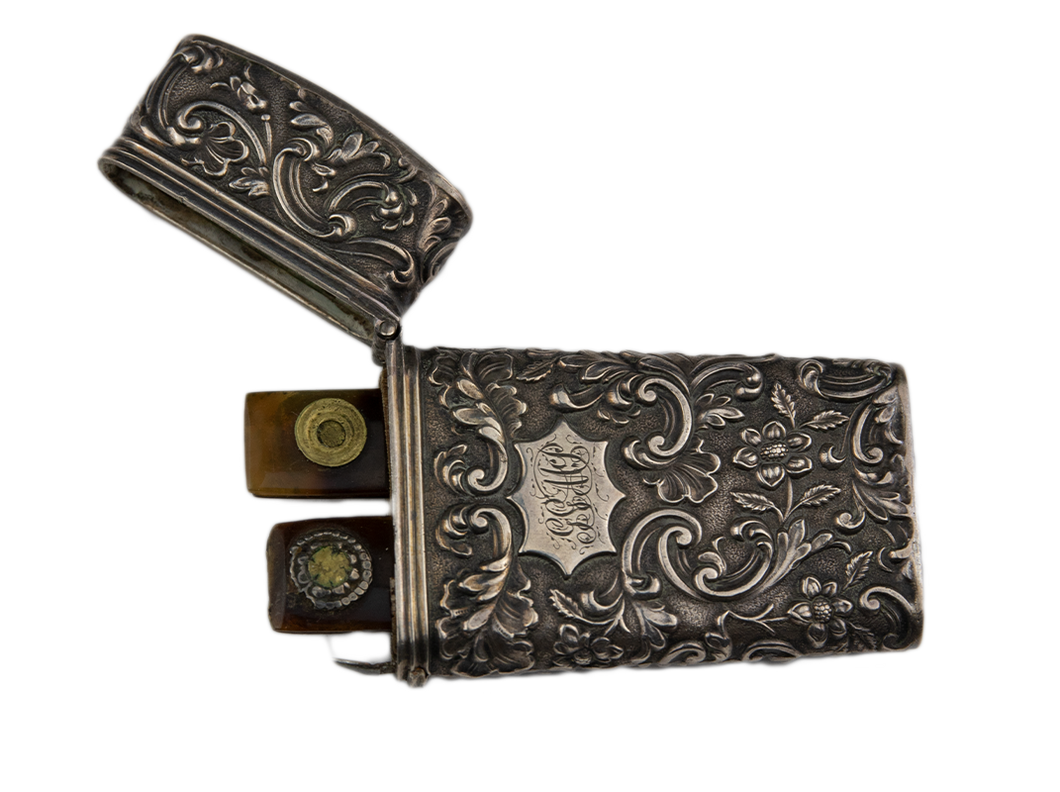 Decorative Silver Lancet Case