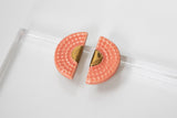 Art Deco Porcelain and Gold and Pink Studs - Niamh.Co