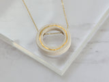 White Porcelain and Gold Necklace