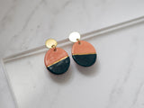 Color Block Porcelain and Gold Chandler Drop Earrings