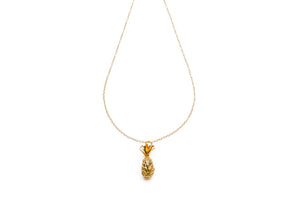 Golden Large Pineapple Long necklace