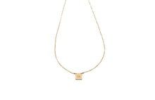 Load image into Gallery viewer, Audrey Custom Initial Square Pendant necklace