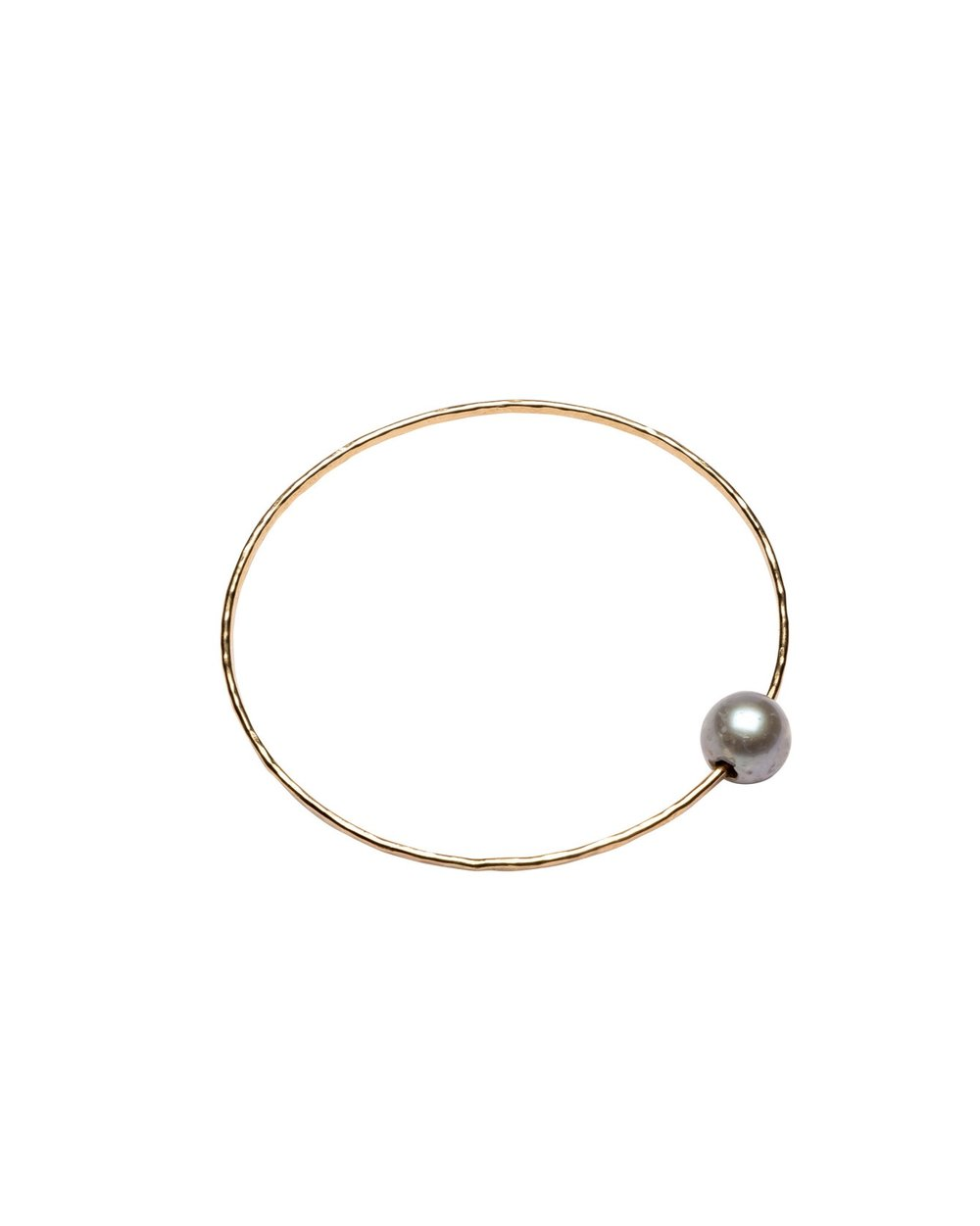 Silver Pearl Harbor bangle