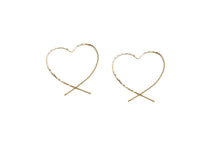 Load image into Gallery viewer, Classic Heart Threader earrings