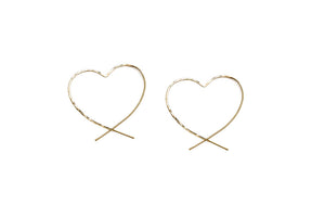 Classic Heart Threader earrings