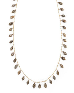 Signature Shell Lei Long necklace