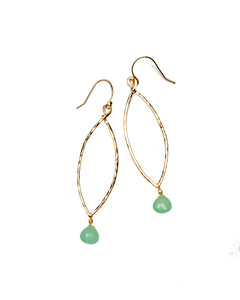 Layla Seafoam Marquise earrings