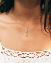 Load image into Gallery viewer, Aloha Vertical Zayit Bar necklace
