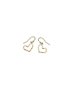Small Classic Heart drop earrings