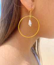 Load image into Gallery viewer, Natural Shell Hoop earrings