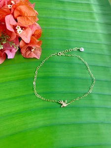 Bird of Paradise Flower Chain anklet