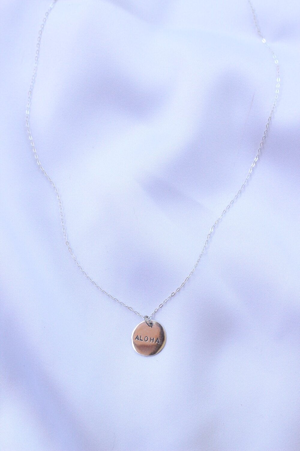 Stamped Aloha necklace