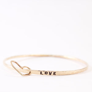 Customizable Heart Classic Zayit bangle