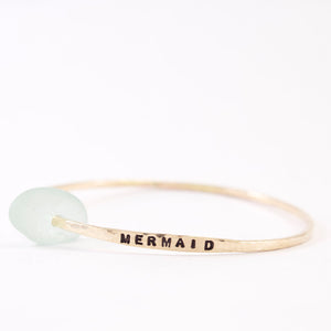 Customizable Sea Glass Classic Zayit bangle