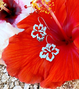 Small Aloha Hibiscus earrings