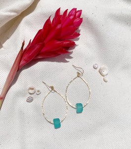 Ocean Teal Teardrop earrings