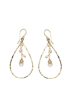 Isabelle Crystal+Pearl Teardrop earrings