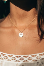 Load image into Gallery viewer, Personalize Single Initial Disc necklace
