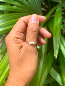 Mini Trio White Pearls ring