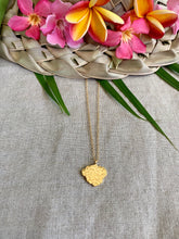 Load image into Gallery viewer, Textured Single Hawaiian Island Pendant necklace
