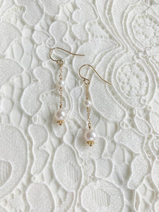 Gemma Pearl drop earrings