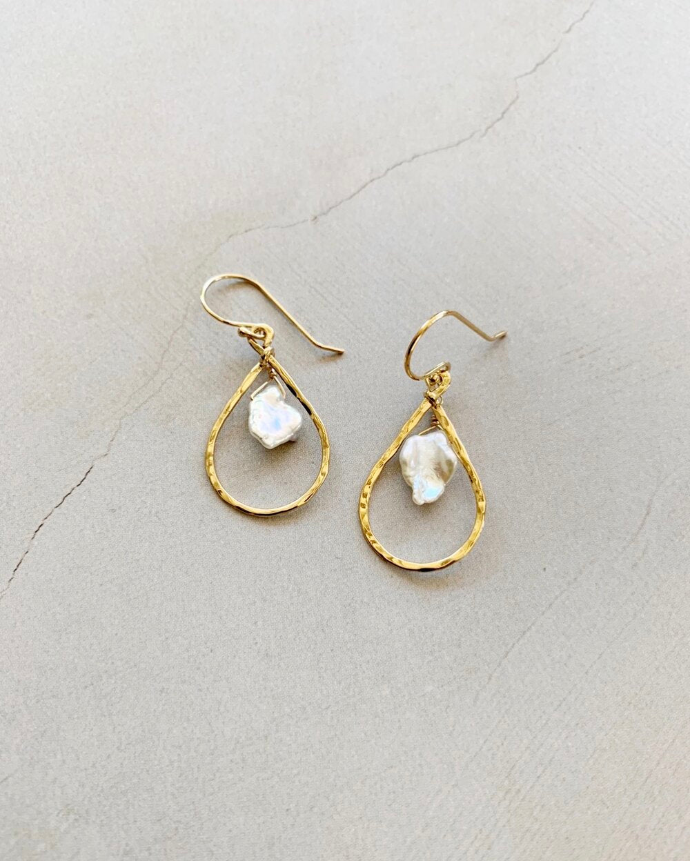Jennifer II Pearl Petite Teardrop earrings
