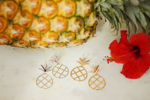 Large Pineapple drop earrings