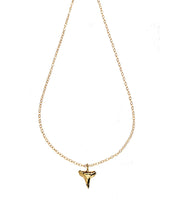 Load image into Gallery viewer, Small Shark's Tooth necklace