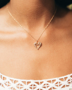 Small Kissing Seahorse necklace