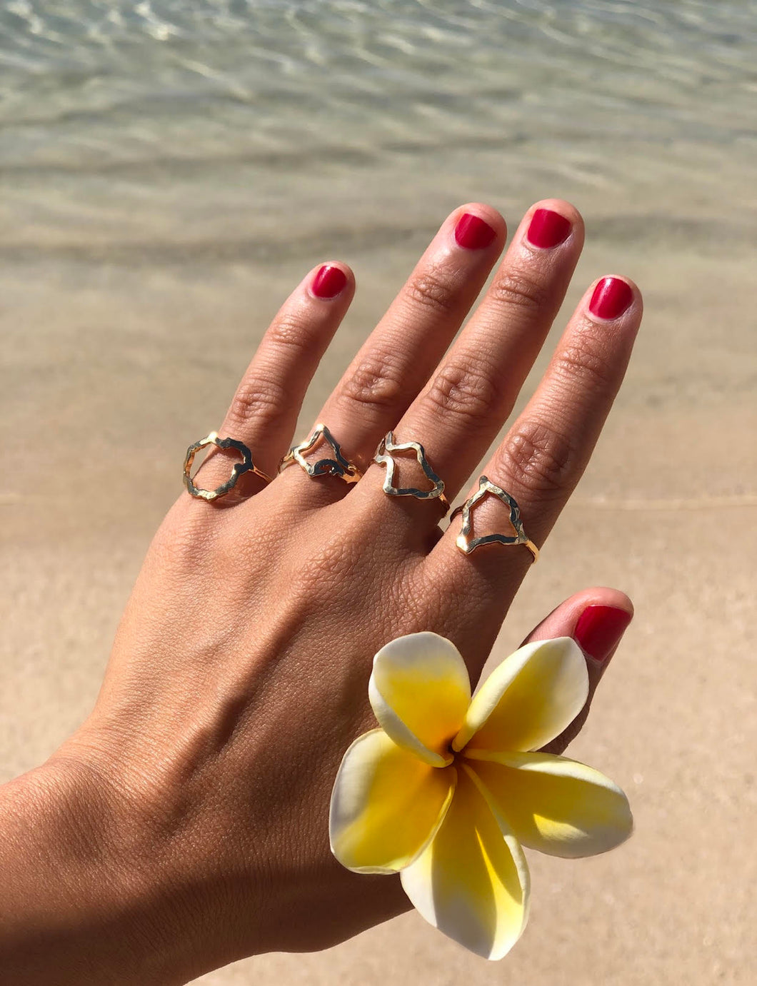 Hawaiian Island rings