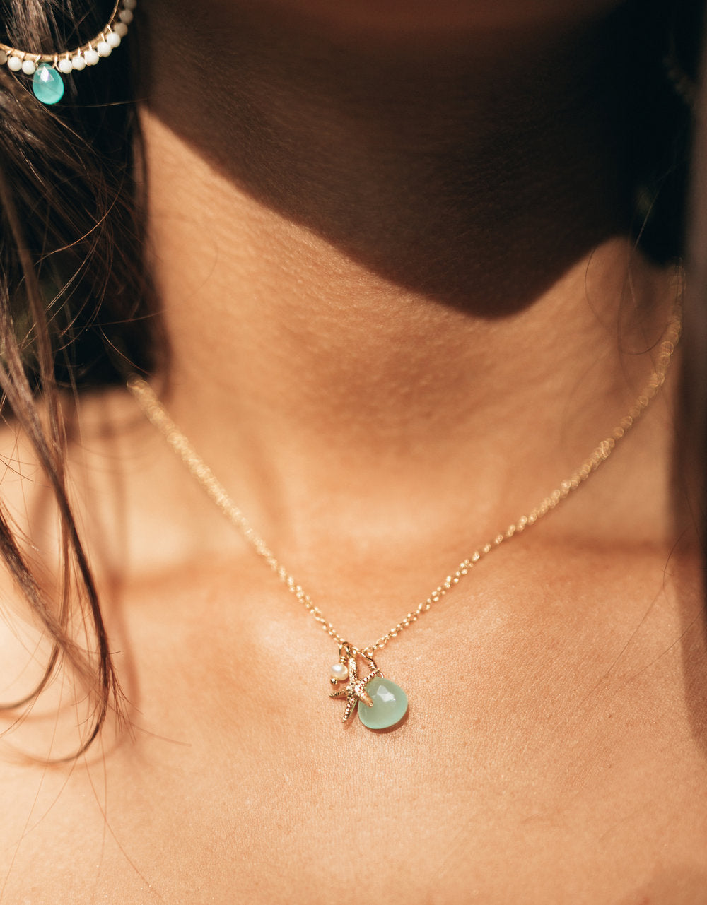 Multi-Seastar Charm necklace