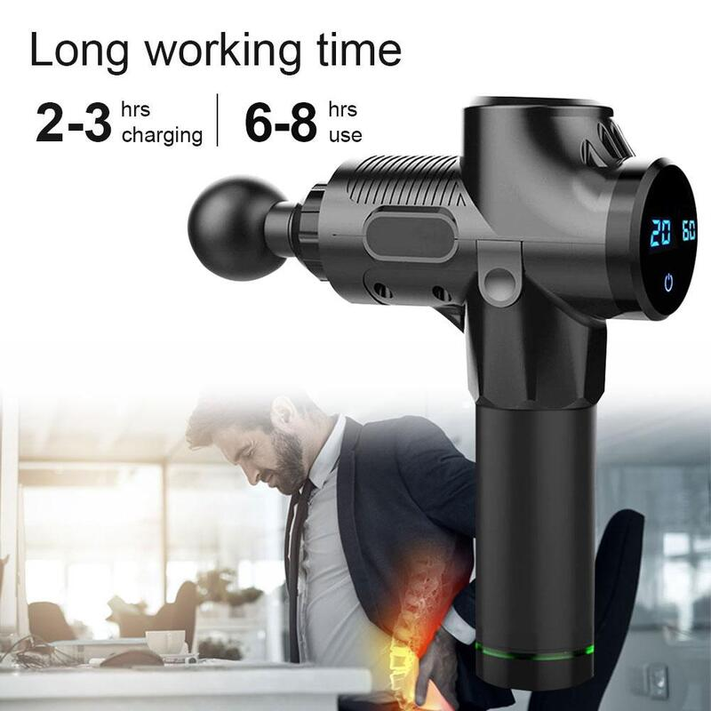LCD Display Vibrating Body Massage Gun