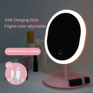 LED Makeup Mirror With USB,Touch & Dimmer