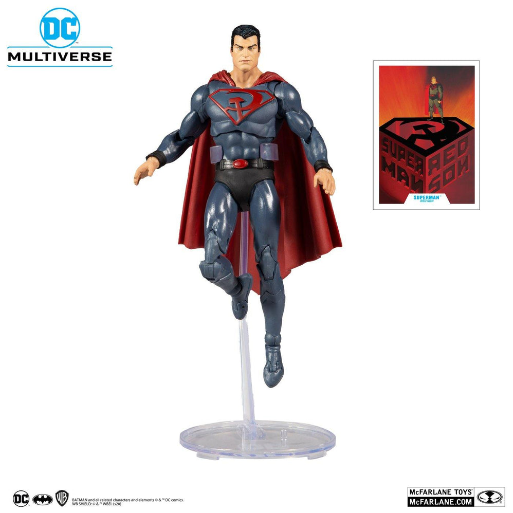 "DC MULTIVERSE SUPERMAN RED SON 7"" ACTION FIGURE - Forthegeekend"