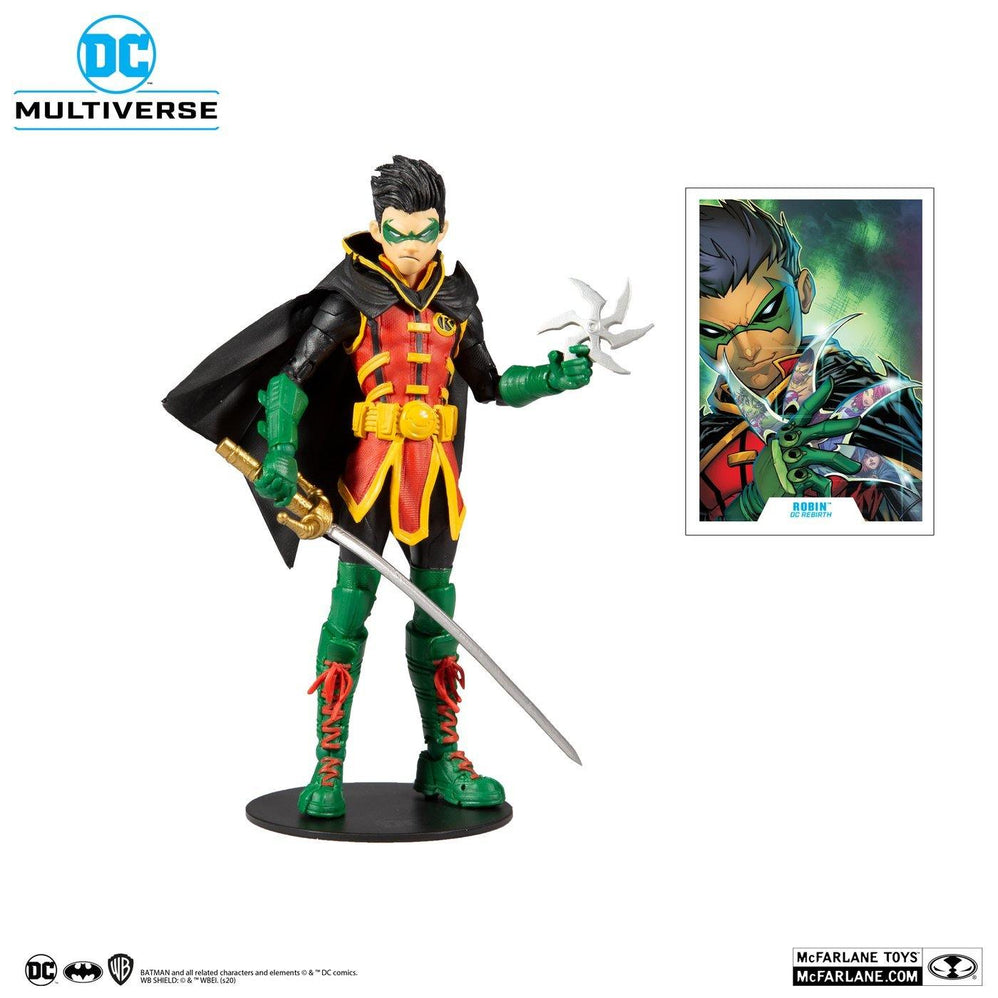 ROBIN - DAMIEN WAYNE (DC REBIRTH) - DC MULTIVERSE 7 INCH ACTION FIGURE - MCFARLANE TOYS - Forthegeekend
