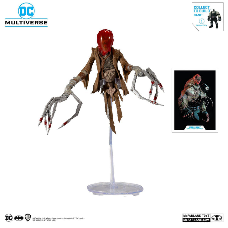 "McFarlane Toys DC Build-A 7"" Figures Wv3 - Last Knight On Earth - Scarecrow Action Figure - Forthegeekend"