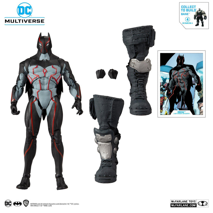 "McFarlane Toys DC Build-A 7"" Figures Wv3 - Last Knight On Earth - Omega Action Figure - Forthegeekend"