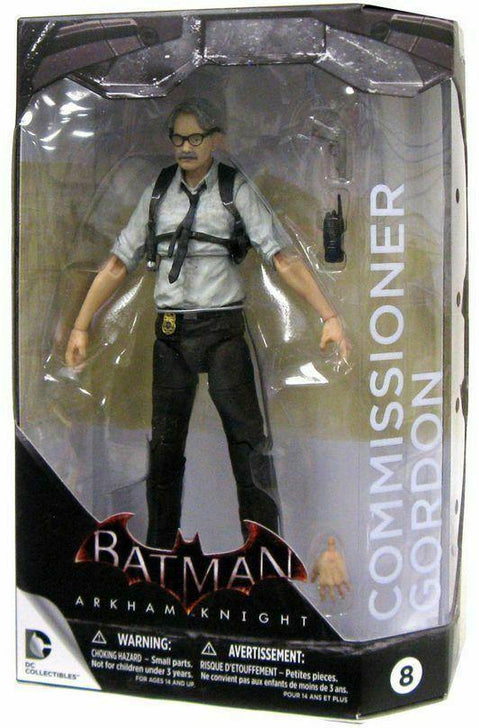 DC COLLECTIBLES BATMAN ARKHAM KNIGHT COMMISSIONER GORDON FIGURE #8 - Forthegeekend