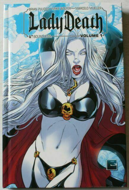 LADY DEATH V.1 HARDCOVER SIGNED WITH 3 SIGNATURES LIMITED EDITION HC NM - Forthegeekend