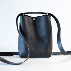 Mini Crossback (crossbody + backpack) - Black Leather