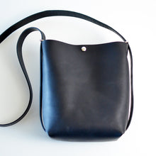 Load image into Gallery viewer, Mini Crossback (crossbody + backpack) - Black Leather