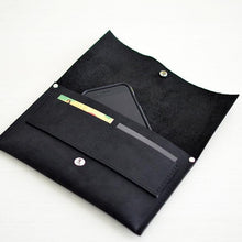 Load image into Gallery viewer, Wallet Clutch - Black Leather