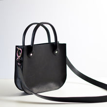 Load image into Gallery viewer, Handbag + Removable Strap - Black Leather