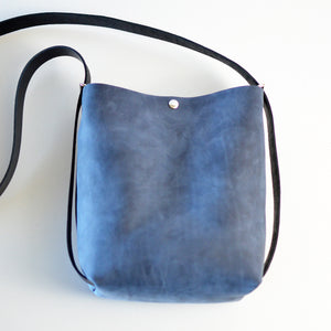 Mini Crossback (crossbody + backpack) - Navy Blue Leather