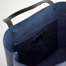 Load image into Gallery viewer, Medium Classic Tote - Navy Blue Leather