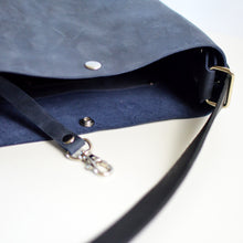 Load image into Gallery viewer, Mini Crossback (crossbody + backpack) - Navy Blue Leather