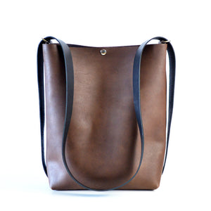 Crossback (crossbody + backpack) - Chocolate Brown Leather