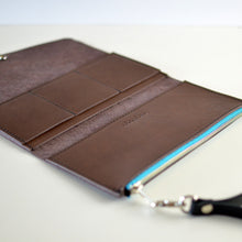Load image into Gallery viewer, Wristlet Wallet Clutch - Chocolate Brown Leather